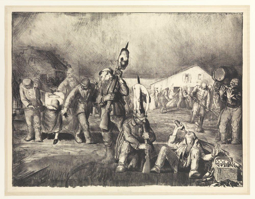 George Bellows, Bacchanale , 1918, Metropolitan Museum of Art, New York