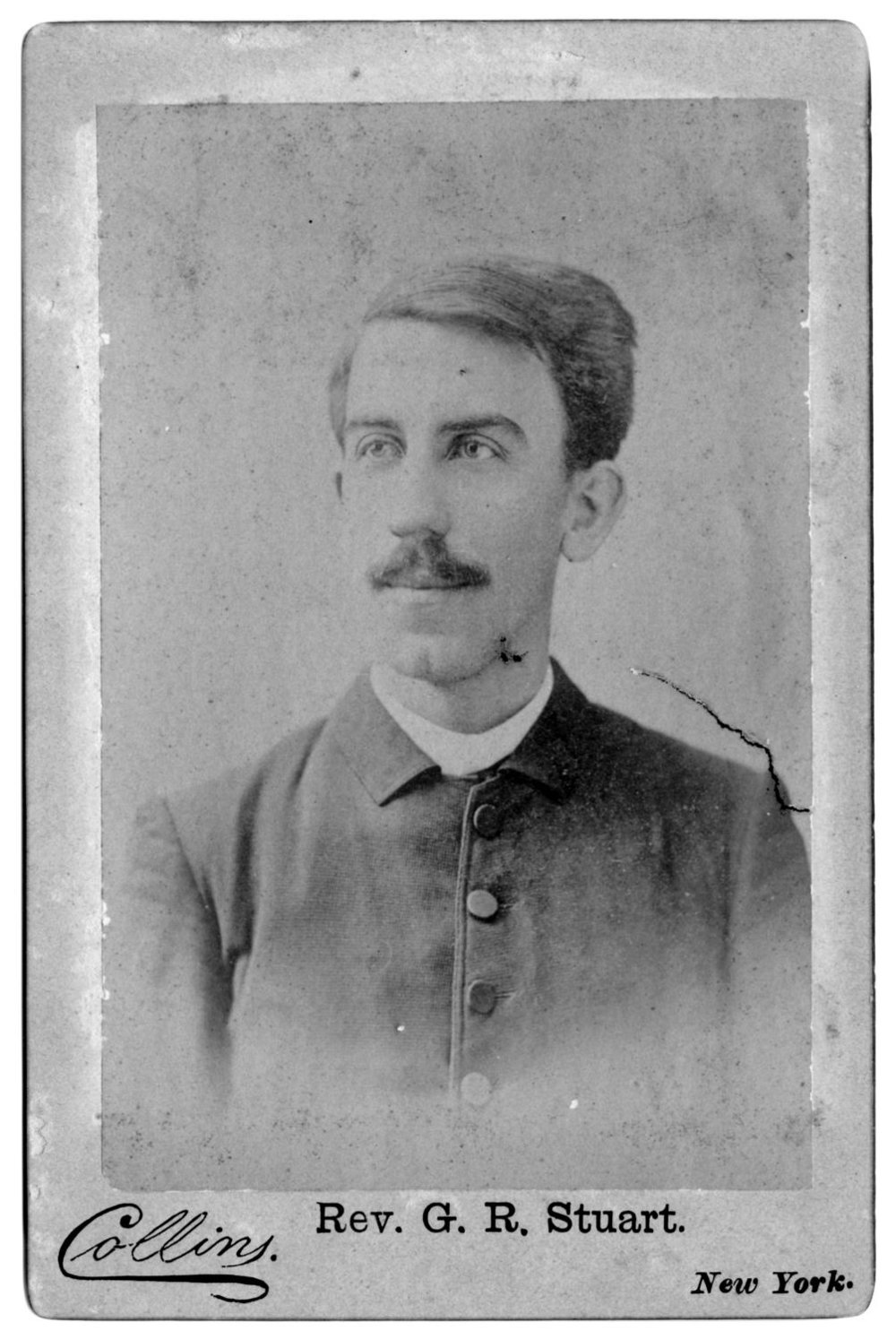 Collins Studio - New York, Rev. G. R. Stuart. University of North Texas Libraries, The Portal to Texas History, photo: Anderson County Historical Commission.
