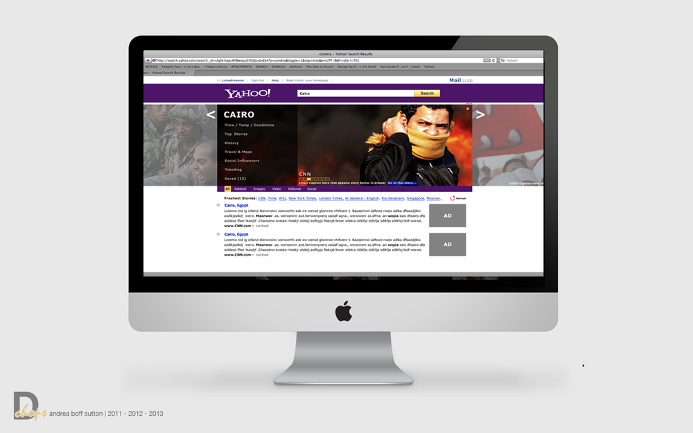 Yahoo News Concept