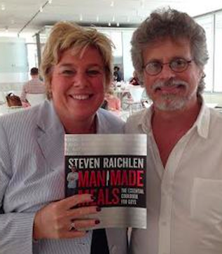 "Chef Robin with Steven Raichlen - pick up a copy of  ""Man Made Meals"""