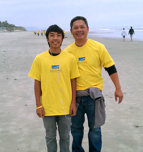 Director  of Pre-Construction Services, Kien Bui and son Keenan