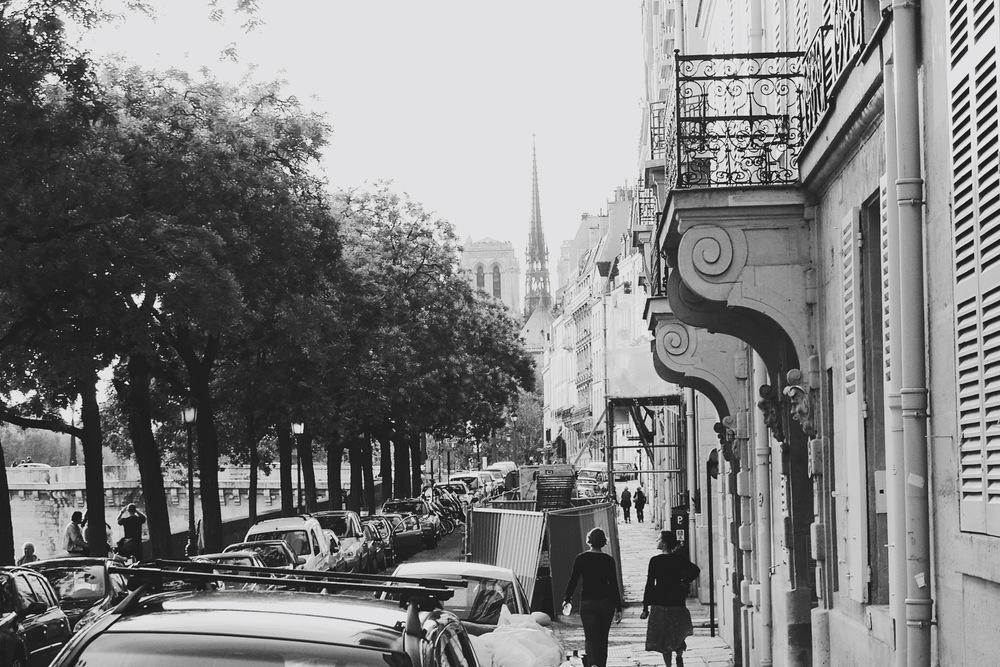 Parisian Streets in Early Fall -   Île - de - France