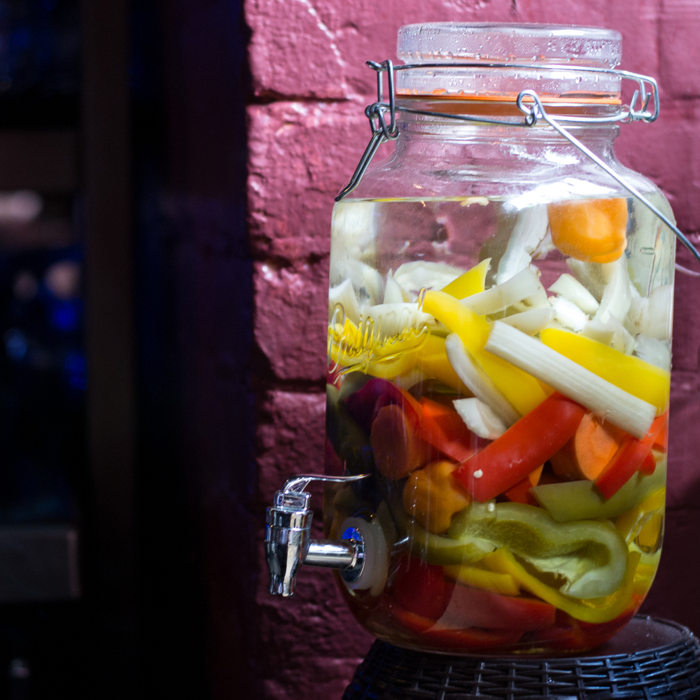 Pepper and onion infused vodka