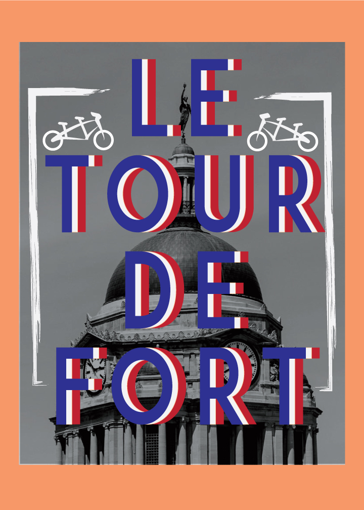 Inspired by the French flag and the iconic nature of the Allen County Courthouse we felt this design would work better as a poster.