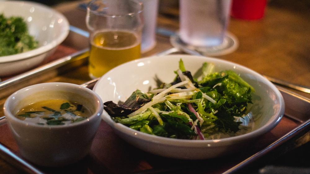 Shrimp Curry + Sliced Salad