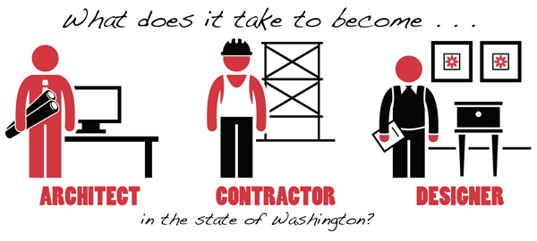 What does it take to become an architect, contractor, or designer in the  state of Washington?  rm architecture