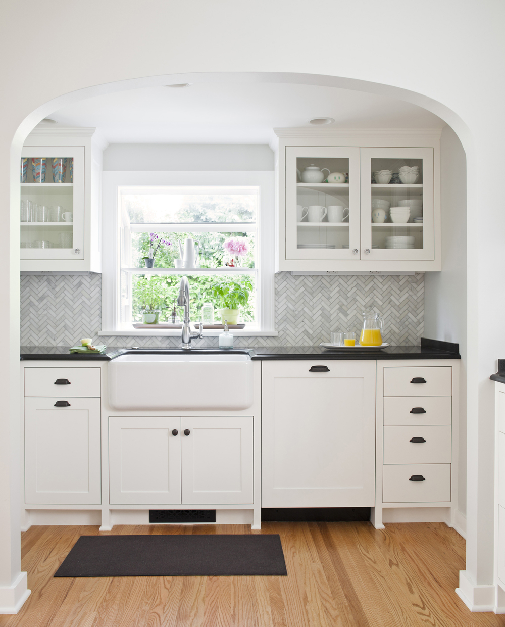 White tudor apron - Major Renovation To Previously Untouched 1931 Tudor Including This Kitchen Which Received A Rex Award For Remodeling Excellence By The Master Builder S