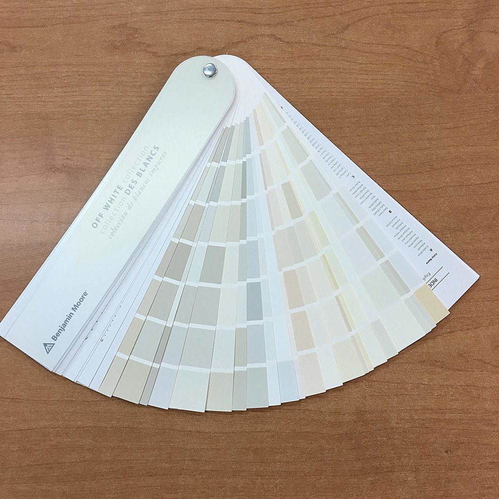 Benjamin Moore Off White Collection Fan Deck ( click here to order from amazon )