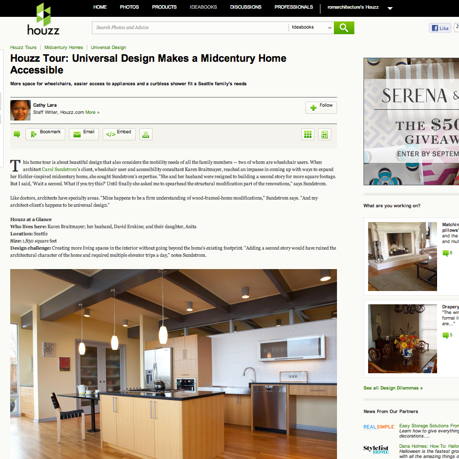 Magnolia Mid-Mod Featured on Houzz.com