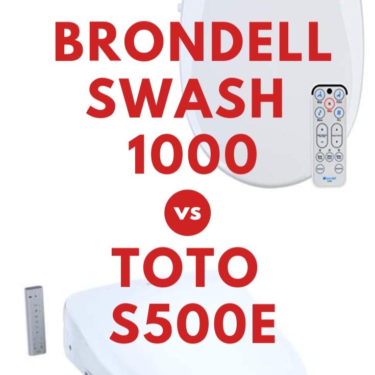 Brondell Swash 1000 vs. TOTO S500e