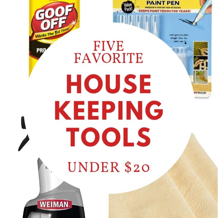 Five Favorite Housekeeping Tools Under $20