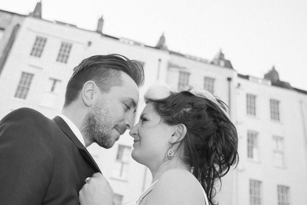 Black and white wedding photographer