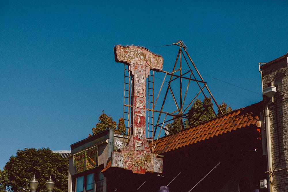 Portland Theatre sign