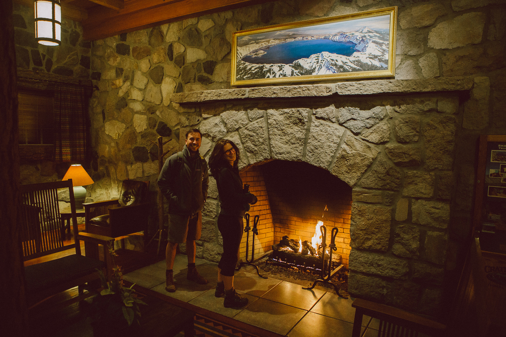 Crater lake lodge interior