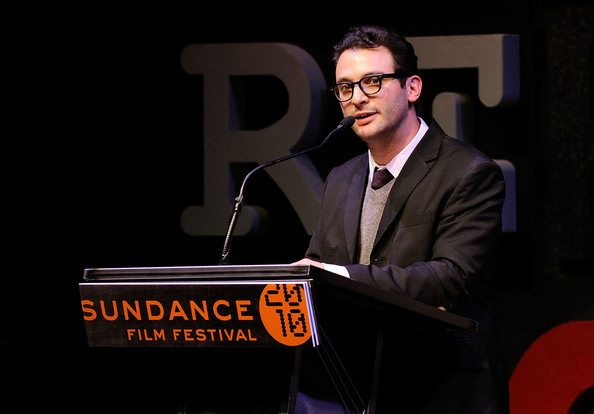 "Josh Fox at the Sundance Film Festival. Photo from WNYC's ""Here's the Thing"" site."