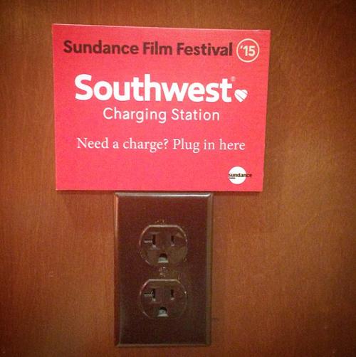 Southwest Charging Station at Sundance by @cinejoe on Instagram.