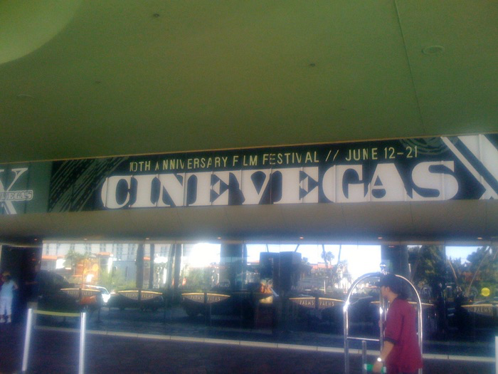 10th Anniversary CineVegas signage at the Palms Casino. Photo © Film Festival Secrets.