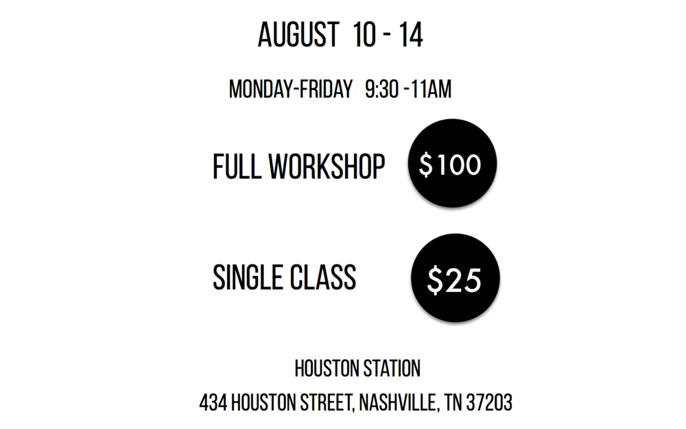New Dialect accepts cash, credit, or check made payable to New Dialect. Doors open 30 minutes before each class. Please arrive a few minutes early to ensure you are registered and that class begins on time. There is no pre-registration for this workshop.