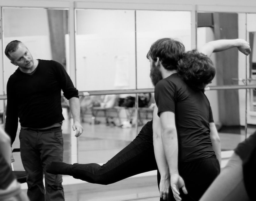 Alex Ketley directing rehearsal on August 5
