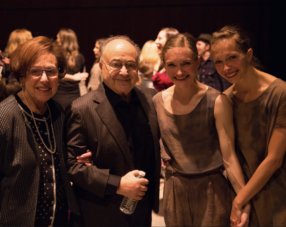 Esen & Cano Ozgener, Banning Bouldin, and Ana Maria Lucaciu (L to R) after New Dialect's  Souvenirs  premiere at OZ Arts