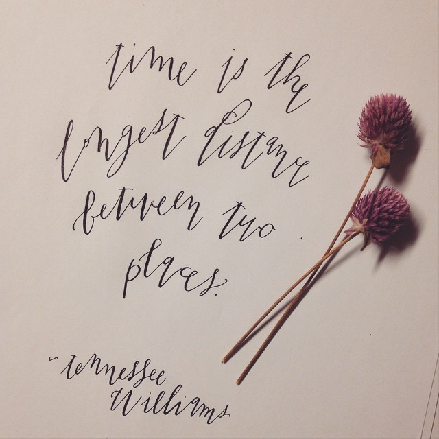 Quill and Arrow : Calligraphy Tennessee Williams