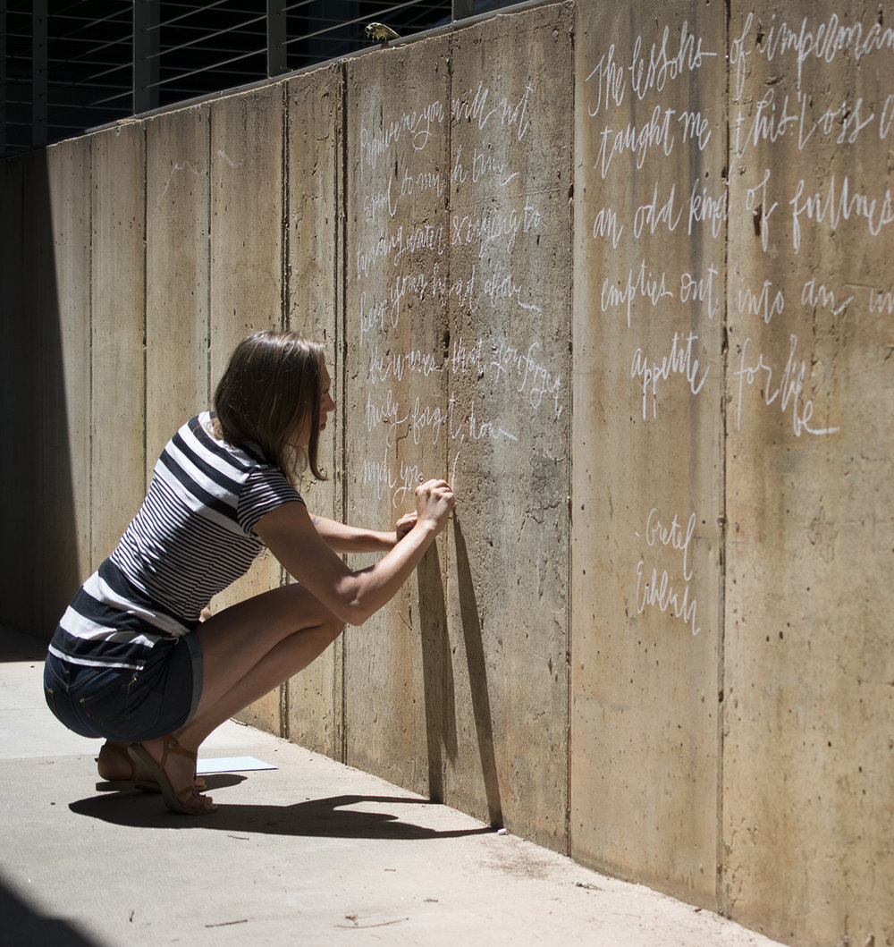 Quill and Arrow : Calligraphy Outdoor Chalk Wall