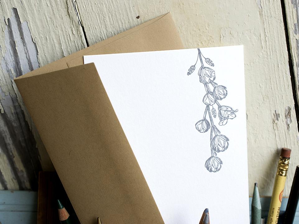 Custom Letterpress Printed Stationery.