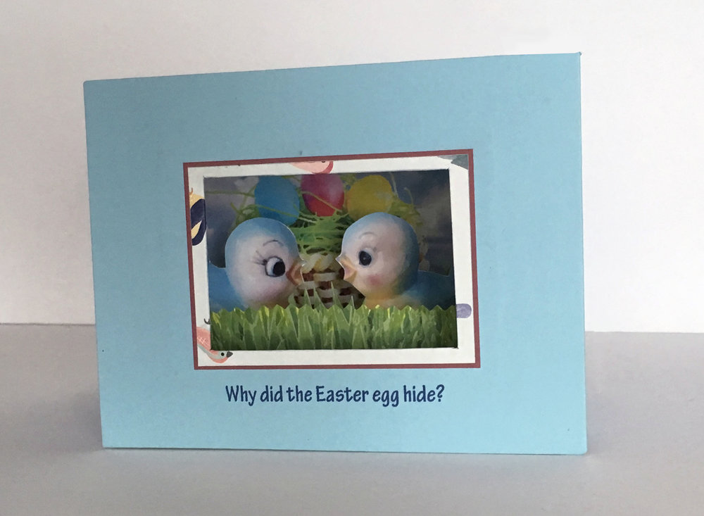 Easter tunnel book, front view