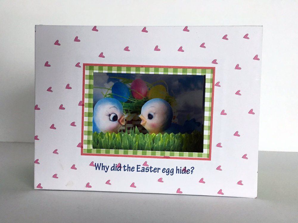 Easter tunnel book 2, front view (riddle)