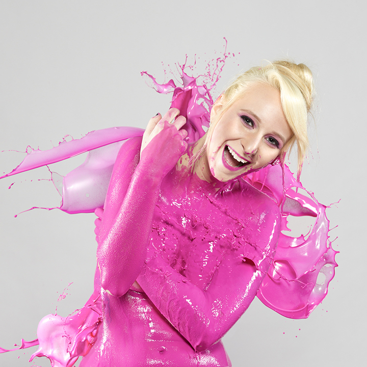 """Splash of Color: Pink""  Model: Bethany Bartkus  MUA:  Michelle Daniel"