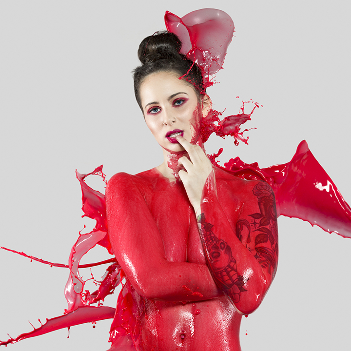 """""""Splash of Color: Red""""  Model: Elena de Soto  MUA:  Michelle Daniel"""