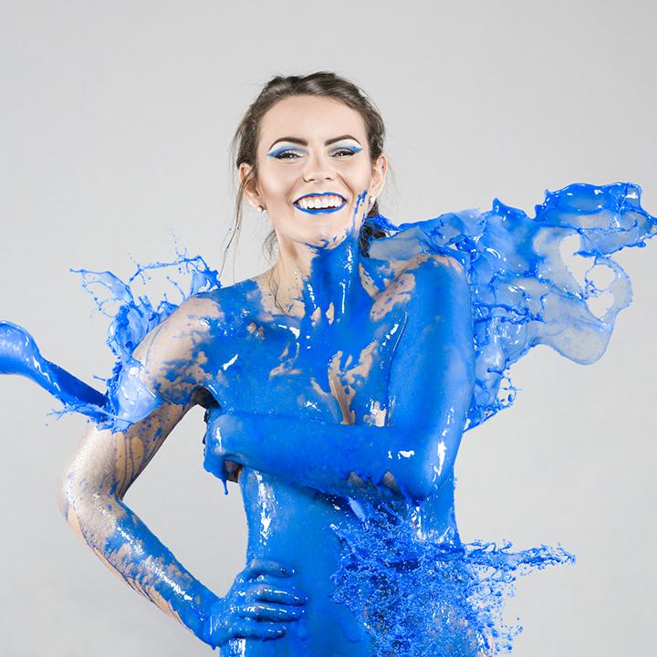 """Splash of Color: Blue""  Model: Ashley Weil  MUA:  Chrissy Tina Makeup"