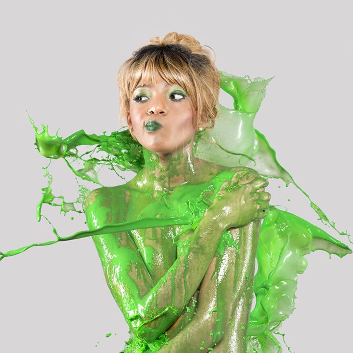 """Splash of Color: Green""  Model: Lashay Wine  MUA:  Michelle Daniel"