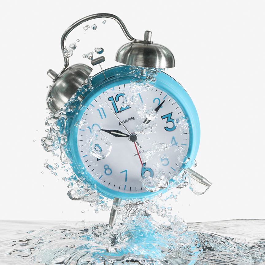 Danielle Gardner Photo_Alarm Clock in Water Splash.jpg