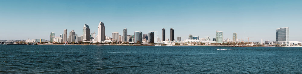 San Diego city skyline.