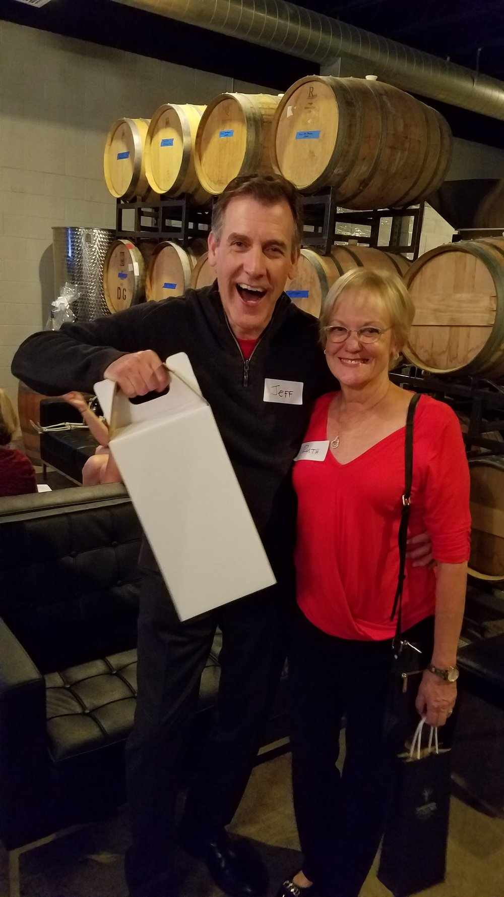 Jeff Schroeder of Jack In The Box and Coffee Bean & Tea fame take home four bottles of BK Cellars wine as they collectively placed second and third.