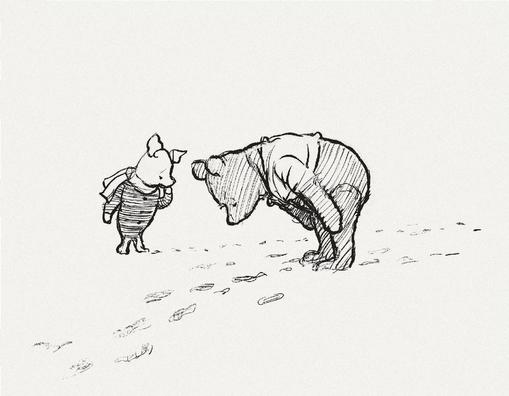 winnie-the-pooh original drawings