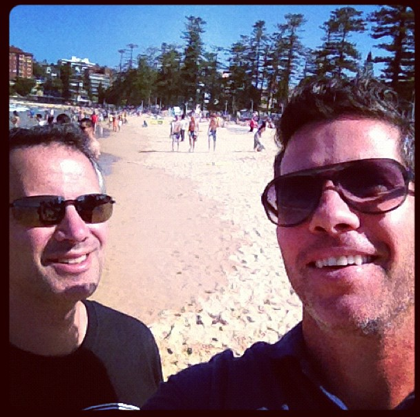 My pal Alan Wolk (@awolk) and I visiting on business in Sydney, Australia, 2012.