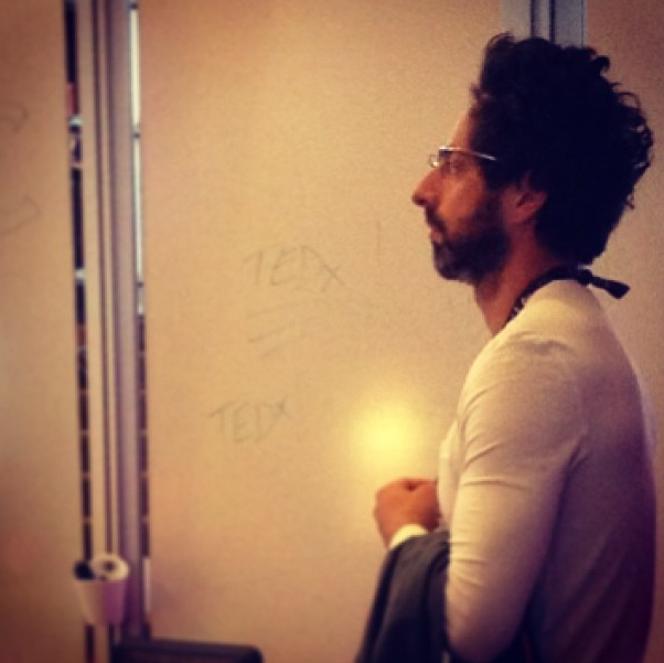Sergey Brin of Google in observation mode at #TED.