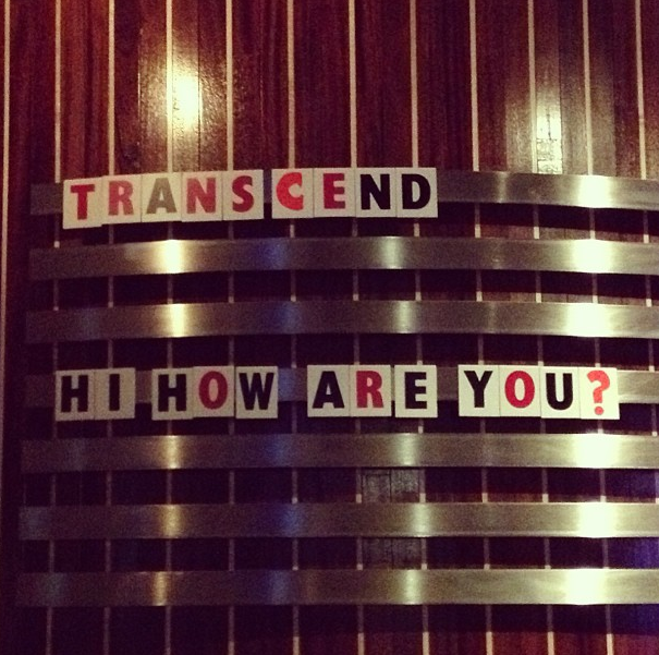 Transcend. Hi, how are you?