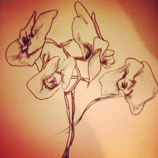 """Floral Profile"". 2012."