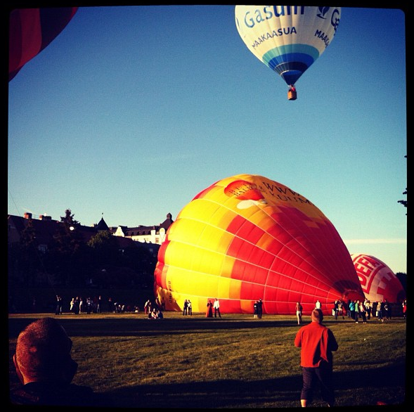 Hot air balloons, Helsinki, Finland. 2011.