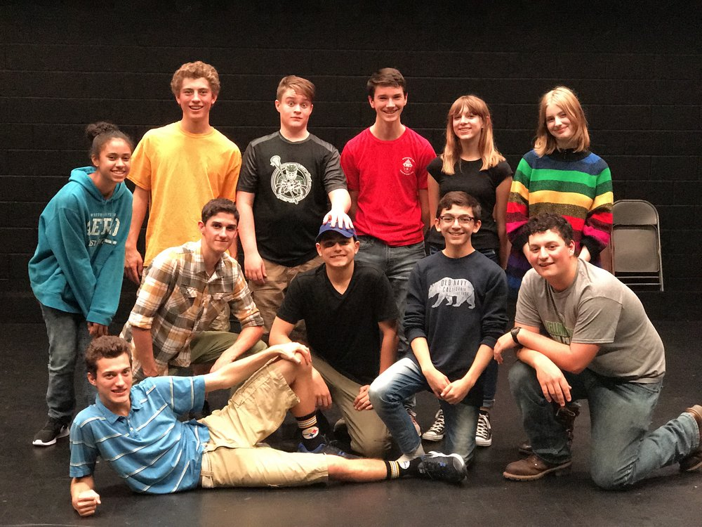 2017 - 2018   Back 6: Trinity Johnson, Butch Keating*, Egan Noel, John Key*, Josetta Checkett, Ava Wendelken  Middle 4: Evan Bechtel*, JC Collins-Bloomquist, Kyle Vaughn*, Dom DeLorenzo  Front: Matthew Keating.    Not pictured: Becca Winton (manager).