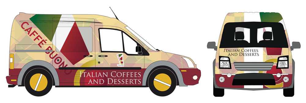 Caffe´Buono Vehicle Wrap Designs