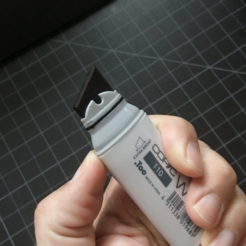 The COPIC corpse in question - COPIC Wide 110 Black Marker
