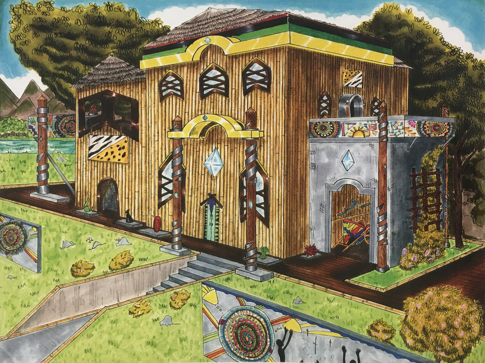 House Exterior - African Influence