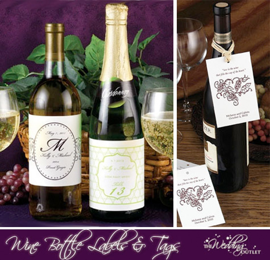 Friday Favor of Day: Wine Bottle Labels and Tags