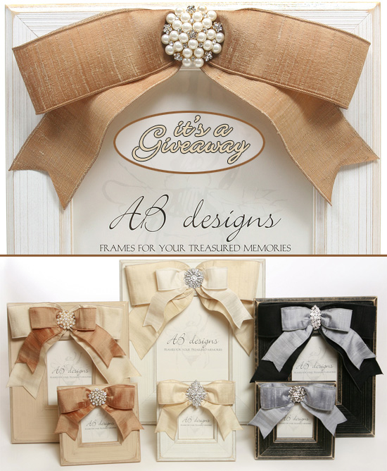 Giveaway Ab Designs Wood Photo Frame