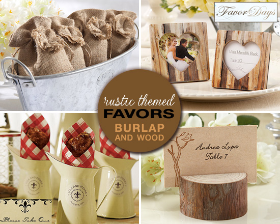 rustic themed wedding favors