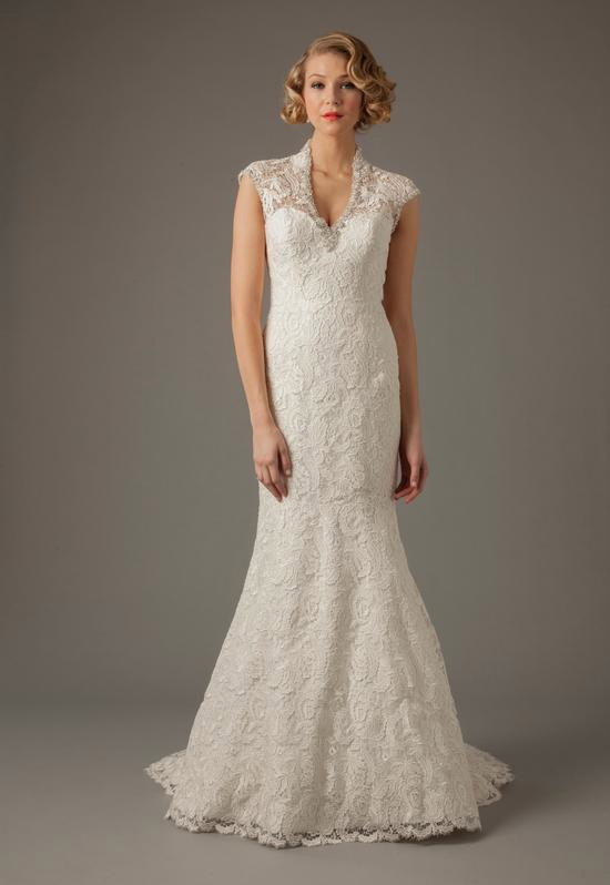 V-Neck Mermaid Gown in Lace